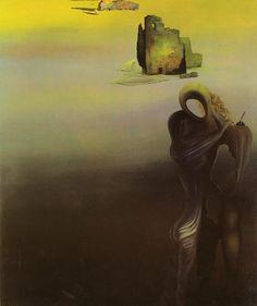 Gradiva Finds the Antropomorphic Ruins, 1931, Salvador Dalí (Surrealismo 1)