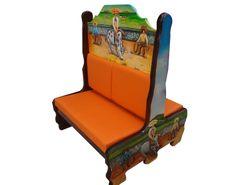 Booth Charreada.  Descripción: Diseño: Charreada Color: Diseño Asiento: Vinil naranja  2 Personas