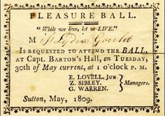 The ball starts at This is precisely the kind of invitation Jane Austen would have received. Willoughby would have danced till Jane Austen, Vintage Labels, Vintage Ephemera, Vintage Invitations, Invites, Social Dance, Happy Week, Regency Era, Regency Dress