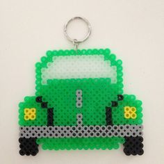 Volkswagon Beetle VW Bug KeyRing Magnet or by KimsColorfulCrafts Colorful Crafts, Bead Patterns, Perler Beads, Beetle, Bugs, Magnets, Amber, Crafts For Kids, Crafty