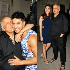 Humpty Sharma and his Dulhania Varun Dhawan and Alia Bhatt were snapped at a studio in Mumbai post a photo shoot. The duo was soon joined by director-producer Mahesh Bhatt and together the trio made for some super adorable clicks with Mahesh Bhatt hugging both the actors in all his affection for them. Aww! by #Filmfare. Shared by #BollywoodScope