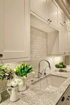Lovely kitchen done in classic neutral colors.