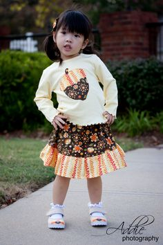 acorn fall outfit for girl by aHouseintheWoods