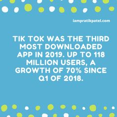 As we come to the end of & starting a new decade with What do you guys think about TikTok? Is it going to be as big as other giants?