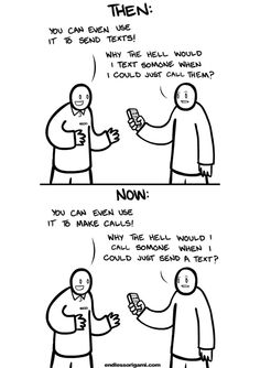 Tastefully Offensive: Cell Phones Then and Now