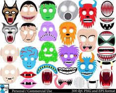 Items similar to Monster Props - Set Clipart - Digital Clip Art Graphics, Personal, Commercial Use - 108 PNG images on Etsy Halloween Costume Hats, Vampire Boy, Art Clipart, Clipart Images, 3d Paper Crafts, Photo Booth Props, Digital Stamps, Clip Art, Etsy