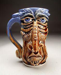 Grafton Pottery Pottery Designs, Pottery Art, Pottery Ideas, Sculpture Art, Sculptures, Cute Teapot, Face Jugs, Ceramic Clay, Ceramic Artists