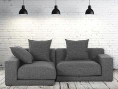 Sofa Graphit - Ecksofa R - Stoffsofa - CLOUD