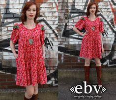 #Vintage #70s #Floral #Tent #Mini #Dress S M L by shopEBV http://etsy.me/11V1Krt via @Etsy #etsy #shopEBV by shopEBV on Etsy, $48.00