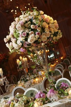 WOW - GIANT rose wedding centerpiece