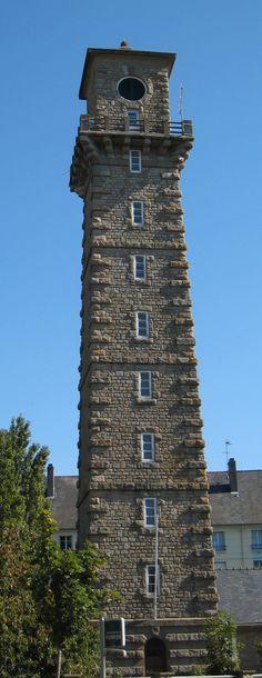 Manche - Un des quatre phares de Saint-Malo (Ille-et-Vilaine) - Phare de la Balue - Coordonnées 48° 37′ 36″ N /2° 00′ 14″ W - Feux : vert fixe