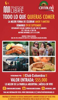 Te invitamos el domingo 29 de Septiembre a nuestro evento Tenedor Libre.