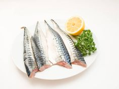 Raw mackerel fish filet