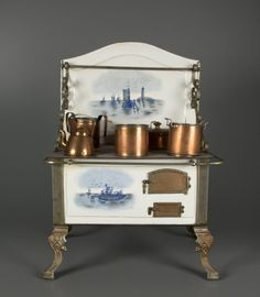 Finnish toy stove | Housekeeping Toys | Toys | National Museum of Play Online Collections | The Strong