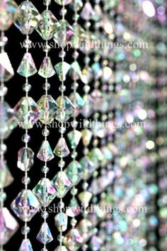 Gemstone Crystal Beaded Curtain 3' x 6' by ShopWildThings. $27.99