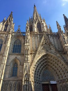 This is a photo of the arcs in the Cathedral in the Gothic Quarter. Although it appears authentically gothic, it was created much later with a gothic style. You can tell the arcs are gothic because they come to a point at the top. This shows how different style of arcs can withstand time as well as arcs in general. Also with the gothic style you will notice more detail within the arc.