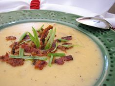 Thick and Creamy Potato Bacon Soup Recipe - Cooking by the seat of our pants