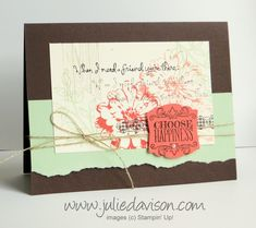 Stampin' Up! Choose Happiness Collage Card for July 2014 Stamp of the Month Club #stampinup www.juliedavison.com