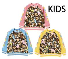 b0840c9d A BATHING APE BAPE KIDS ALL BABY MILO MULTI CREWNECK 3colors Japan New  #fashion #