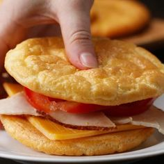Easy & Delicious Cloud Bread Recipes Low Carb, Keto & Gluten Free - Let's make it yourself healhty tasty food - get more benefit for your good body shape Low Carb Vegetarian Recipes, Low Carb Recipes, Cooking Recipes, Cooking Tips, Free Recipes, Gf Recipes, Cooking Food, Food Prep, Cool Recipes