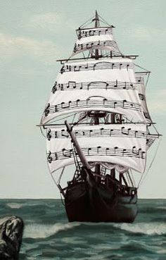 Music lets me sail away.