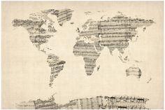 Carte du monde partition