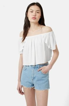 Simple and cute off the shoulder top $40
