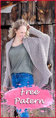Ideas crochet cardigan pattern free women shawl for 2019 Crochet Cardigan Pattern Free Women, Cardigan Au Crochet, Crochet Patterns Free Women, Crochet Blouse, Knitting Patterns Free, Free Pattern, Crochet Sweaters, Crochet Ideas, Crochet Projects