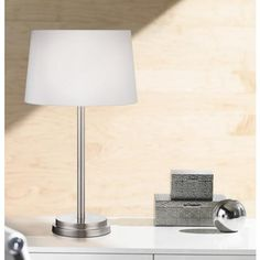 Elroy Modern Brushed Steel Table Lamp
