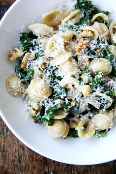 Orecchiette with Swiss Chard, Brown Butter and Walnuts