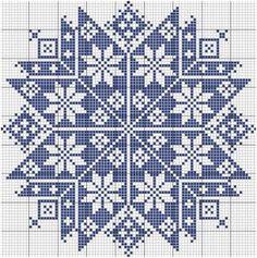 Etoile monochrome (Monochrome Star), designed by Le point de croix martine (Martine Cross Stitch).