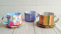 Paper Folding Crafts, Paper Crafts Origami, Diy Paper, Paper Art, Origami Candy, Kids Origami, Origami Heart, Origami Envelope, Origami Box