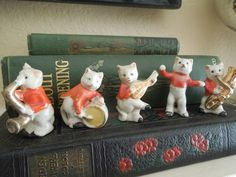 Vintage All Cats Band Porcelain Figurines