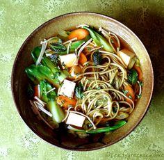 Green Tea Soba Noodle Soup Nederlandstalige website Dutch website bron / source: http://www.leafygreensandme.com/