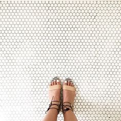 #regram / @justinablakeney has this thing with floors. (and our Alexa sandals)