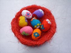 Easter needle felted eggs. Sale $20