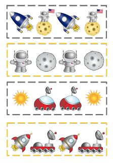 Good to use for matching and pattern activities Space Preschool, Space Activities, Preschool Themes, Preschool Printables, Kindergarten Activities, Space Solar System, Sistema Solar, Outer Space Theme, Earth From Space