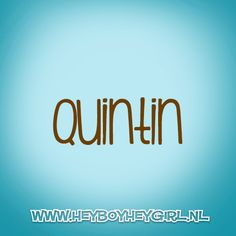 Quintin (Voor meer inspiratie, en unieke geboortekaartjes kijk op www.heyboyheygirl.nl)
