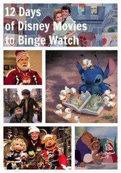 12 Days of Disney Movies to Binge Watch