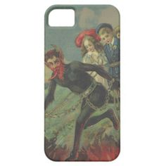 Krampus Kidnapping Children iPhone 5 Cover