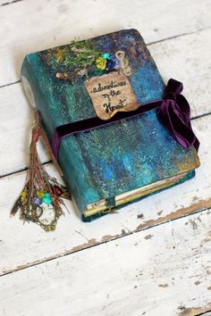 Rustic Woodland Wedding memory album with guest by LotusBluBookArt, £115.00