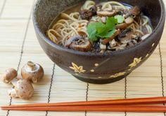 Recipe Notes: This recipe uses a vegetarian mushroom stock made from dried shiitake mushrooms and kombu, a thick kelp used extensively in Ja...