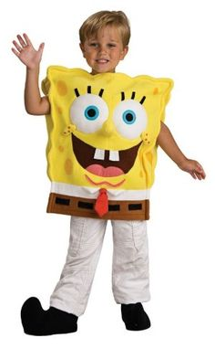 Spongebob Deluxe Toddler Costume @ niftywarehouse.com #NiftyWarehouse #Spongebob #SpongebobSquarepants #Cartoon #TV #Show