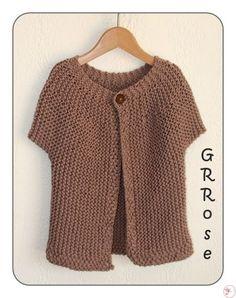 Kimono Pattern Free, Bolero Pattern, Crochet Cardigan Pattern, Jacket Pattern, Crochet Coat, Crochet Diy, Chunky Knitting Patterns, Crochet Buttons, Crochet Needles