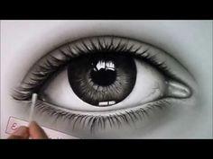 Karakalem göz çizimi. Eye pencil drawing - YouTube