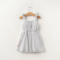 Gray stripe sleeveless dress with bows by HarpersChicCloset