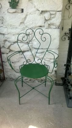Poltroncina verdein ferro battuto con di artisticwroughtiron, €120.00