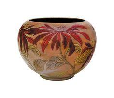 Zsolnay - Ceramic Plant holder with Flower decor Zsolnay, 1904 Vases, Fine Art Auctions, Tile Art, Porcelain Ceramics, Pottery Vase, Plant Holders, Flower Decorations, Art Nouveau, Decorative Bowls