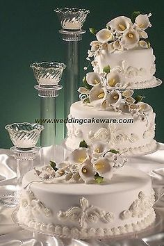 spiral cake stand   Google Search   WEDDINGS   Pinterest   Cake     3 TIER CASCADING WEDDING CAKE STAND STANDS   3 TIER CANDLE STAND