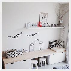 Alléén vandaag nog 10% korting met code 'zomer15'  #zwart #wit #hout #interior #interieur #kids #speelhoek #styling #huisnummer8